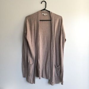 American Eagle Outfitters Open Cardigan Oatmeal XS